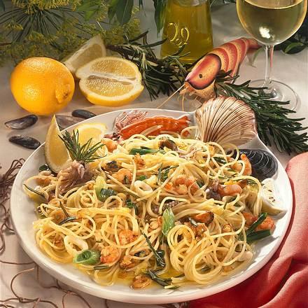 Spaghettini mit Meeresfrüchten Rezept