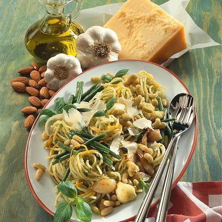 Spaghettini und Bohnen Rezept