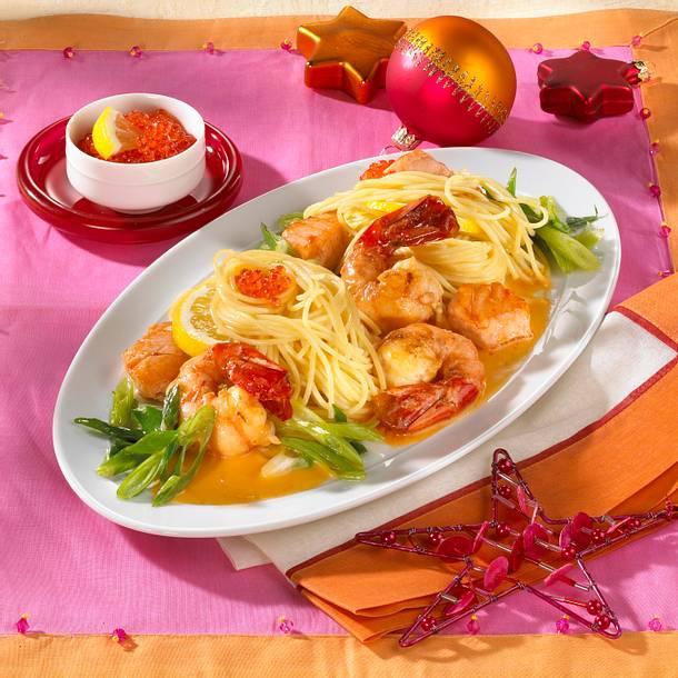 Spaghettini zu Lachs in Proseccosoße Rezept