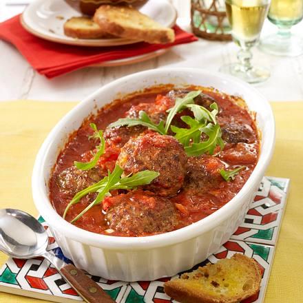 Spanische Hackbällchen in Tomaten-Sherry-Soße Rezept