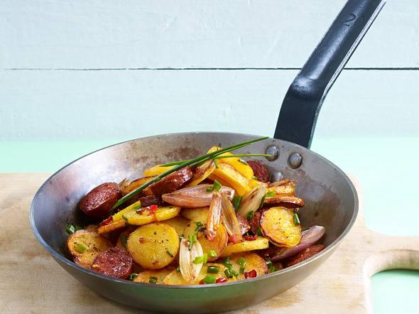 Spanische Kartoffelpfanne mit Chorizo Rezept