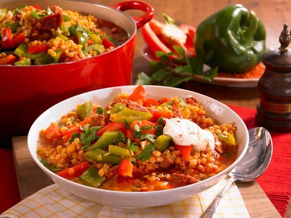 Spanische Linsensuppe mit Chorizo und Paprika Rezept