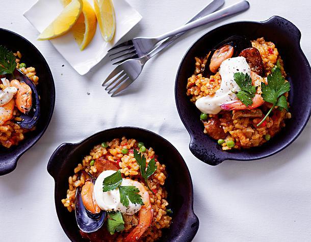 Spanische Paellapfännchen Rezept