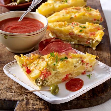 Spanisches Käse-Kartoffel-Omelett Rezept