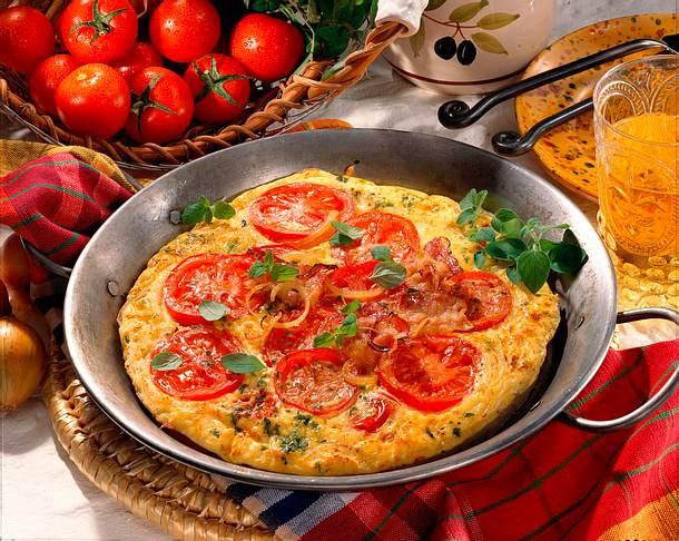 Spanisches Tomaten-Omelett Rezept