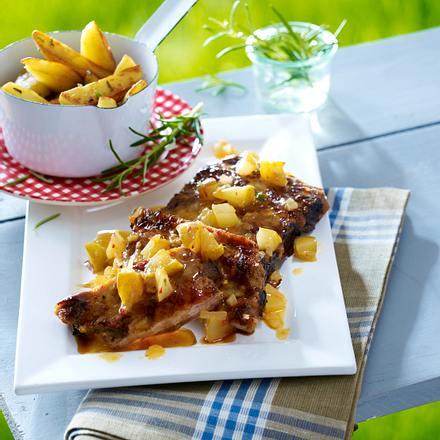 Spareribs in Birnenmarinade vom Grill Rezept