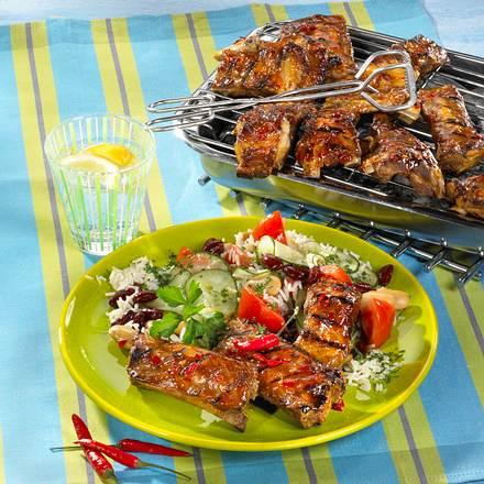 spareribs mit reis bohnensalat rezept chefkoch rezepte auf kochen backen und. Black Bedroom Furniture Sets. Home Design Ideas