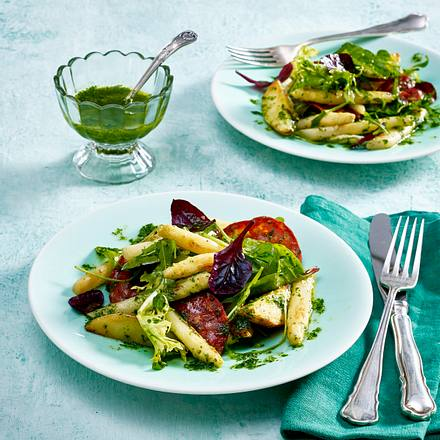 Spargel-Chorizo-Salat Rezept