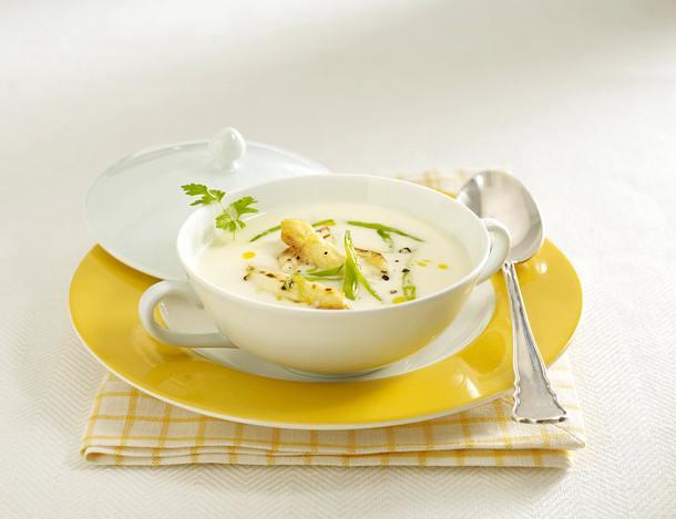 Spargel-Cremesuppe mit gebratenem Spargel Rezept