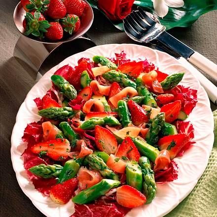 Spargel-Erdbeer-Salat Rezept