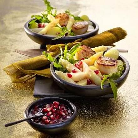 Spargel-Kartoffel-Salat mit gebratenen Jakobsmuscheln Rezept