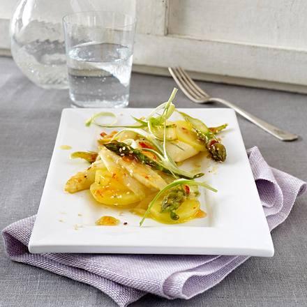 Spargel-Kartoffel-Salat mit Sesam-Chili-Marinade Rezept