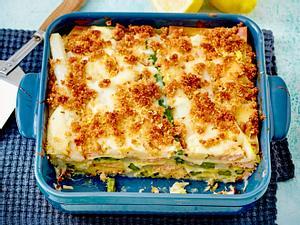 Spargel-Lasagne mit Lachs Rezept