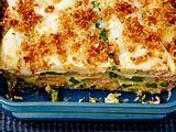 Spargel-Lasagne mit Lachs und Pecorino-Bröseln Rezept