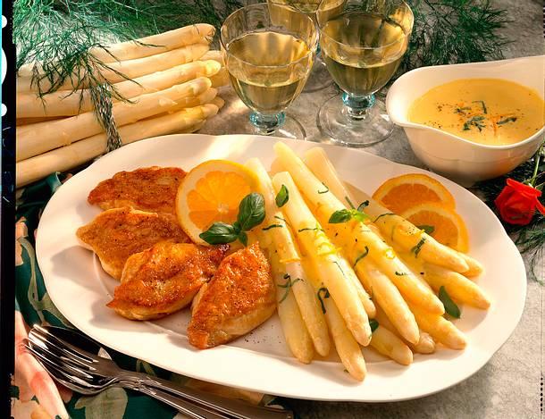 Spargel mit Orangen-Hollandaise Rezept