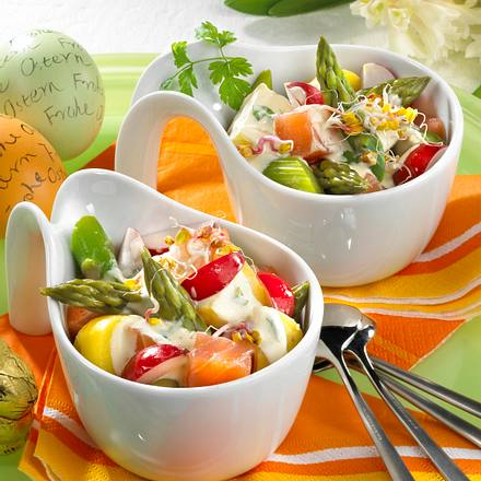 Spargel-Salat mit Lachs Rezept