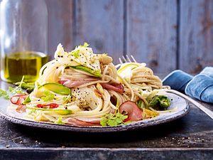 Spargel-Spaghetti aglio e olio Rezept