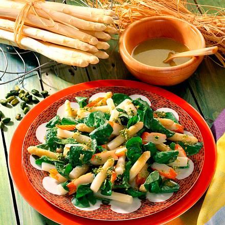 Spargelsalat mit Crab meat Rezept