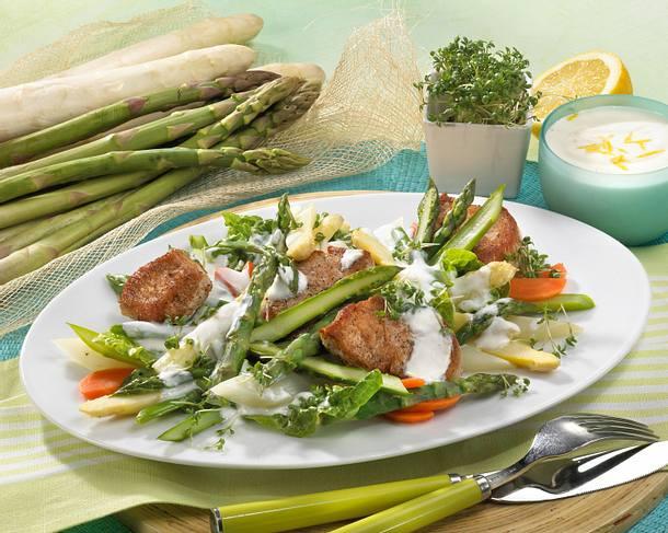 Spargelsalat mit Filet Rezept
