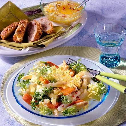 Spargelsalat mit Kartoffel-Vinaigrette Rezept