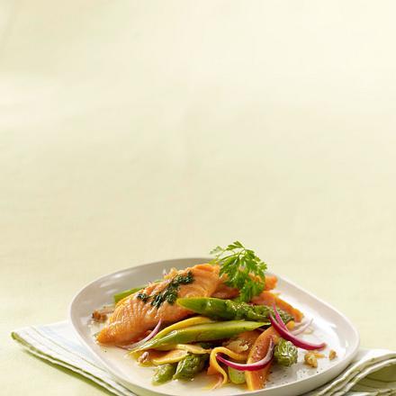 Spargelsalat mit Lachs und Papaya Rezept