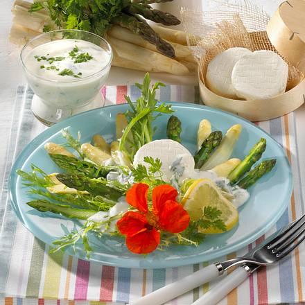 Spargelsalat mit Ziegenkäse Rezept