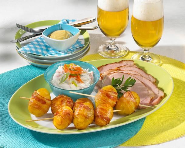 Speck-Kartoffeln mit Kasseler Rezept