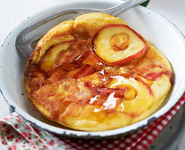 Speckige Apfel-Pfannkuchen Rezept