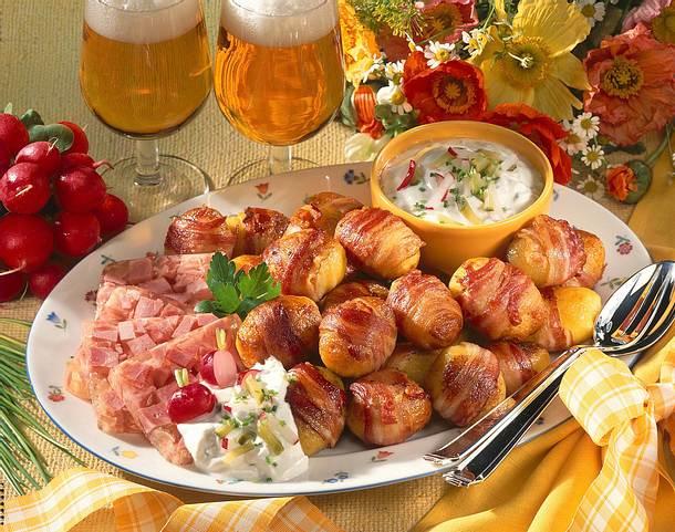 Speckkartoffeln und Sülze mit Quark Rezept