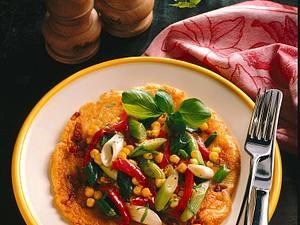 Speckpfannkuchen mit Gemüse Rezept