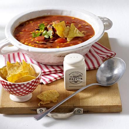 Speedy-Gonzales-Suppe mit Käsechips Rezept