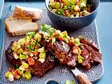 "Speedy Steak ""Gonzales"" mit Feta-Avocado-Salsa Rezept"