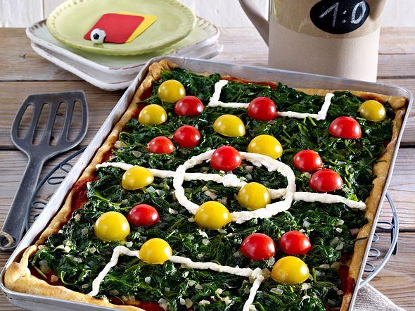 Spielfeld-Pizza Rezept