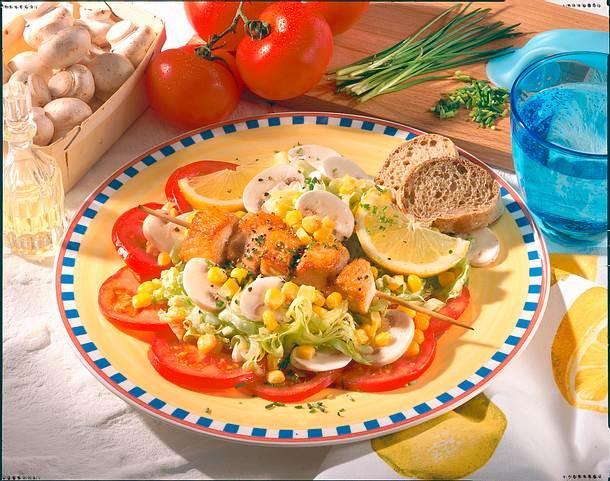 Spieß auf Salat Rezept