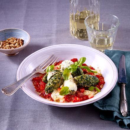 Spinat-Gnocchi mit Käse Rezept