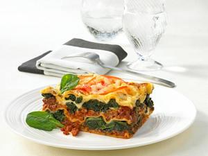 Spinat-Hack-Lasagne Rezept