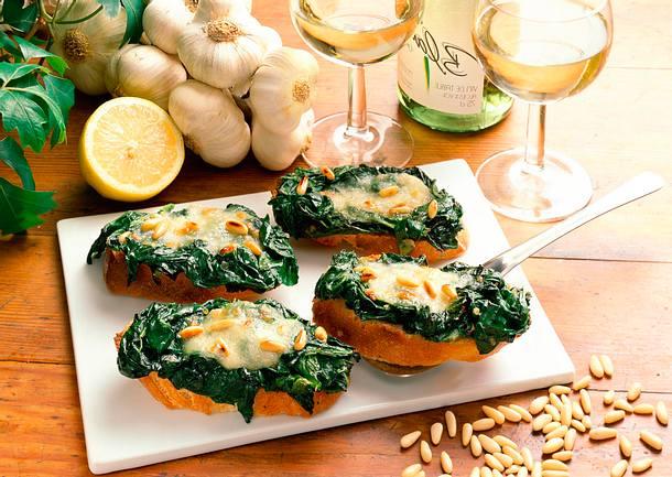 Spinat-Käse-Baguette Rezept