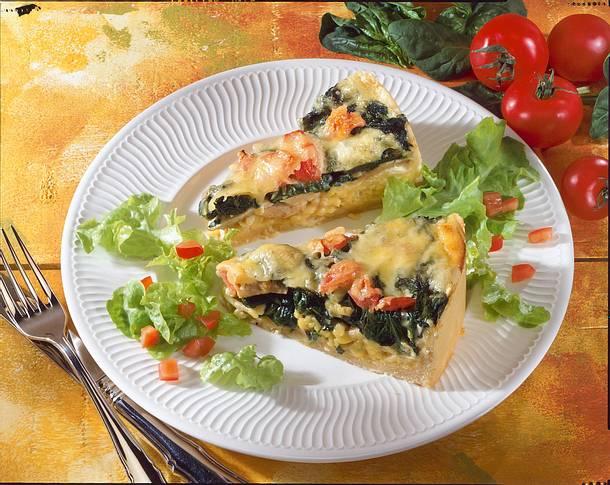 Spinat-Käse-Tarte Rezept