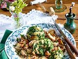 Spinat-Knödel mit Pilzragout Rezept