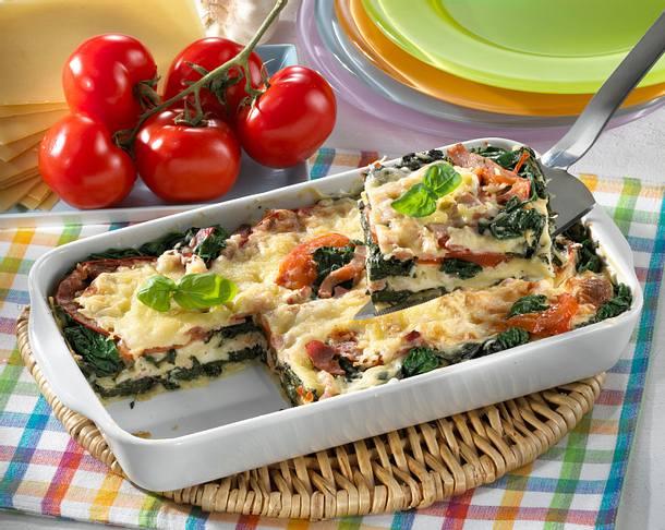 Spinat-Lasagne mit gekochtem Schinken Rezept