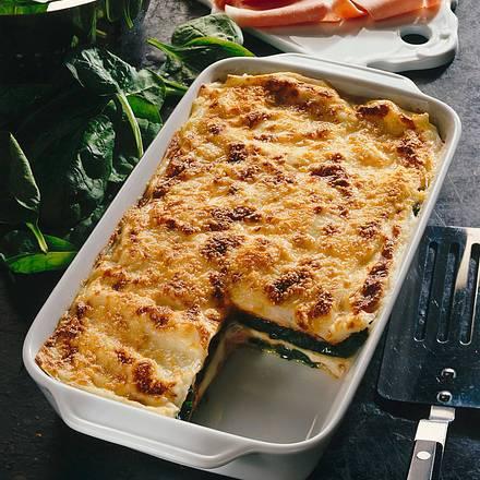 Spinat-Lasagne mit Schinken Rezept
