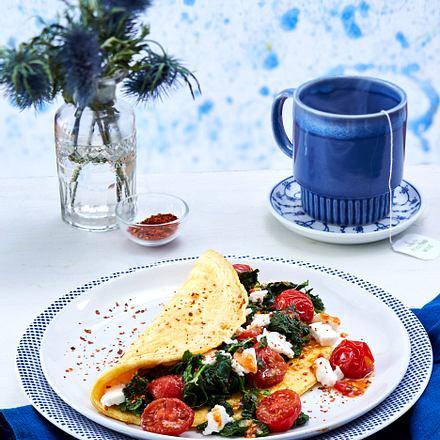 Spinat Omelett Mit Schafskase Aus Vier Mach Eins