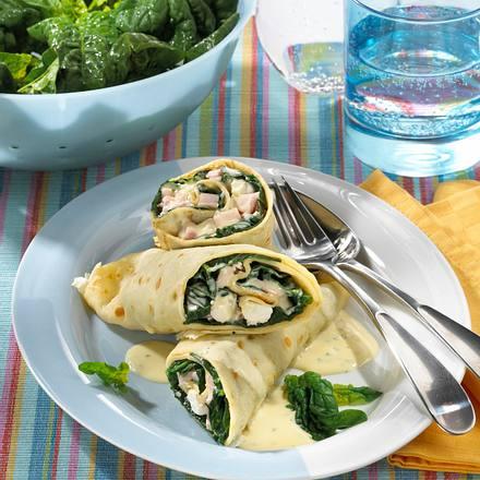 Spinat-Pfannkuchen Rezept