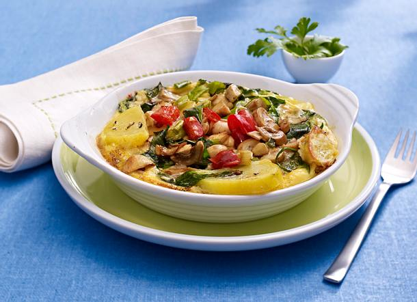 Spinat-Pilz-Frittata Rezept