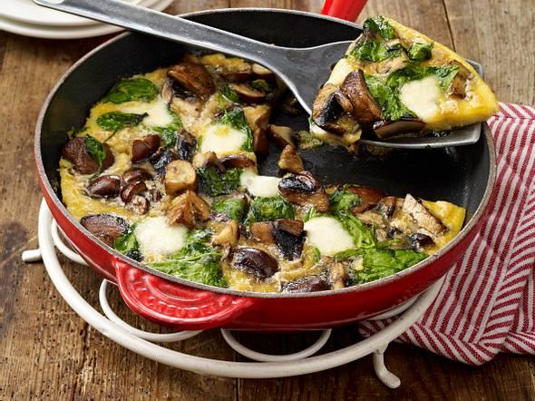Spinat-Pilz-Omelett Rezept