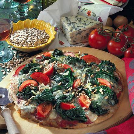 Spinat-Pizza Rezept