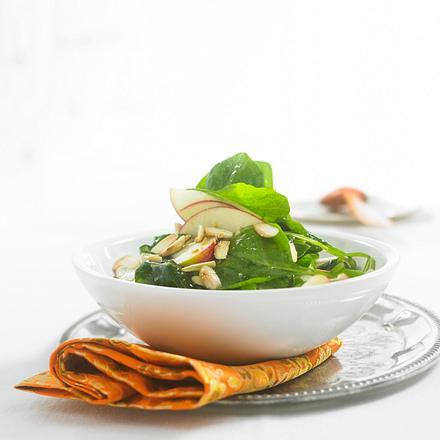 Spinat-Salat mit Apfel Rezept