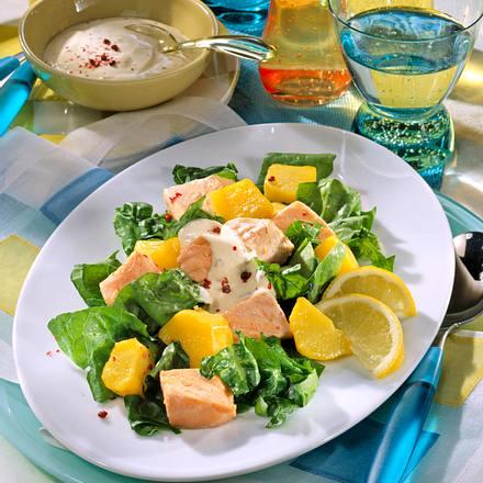 Spinat-Salat mit Lachs Rezept