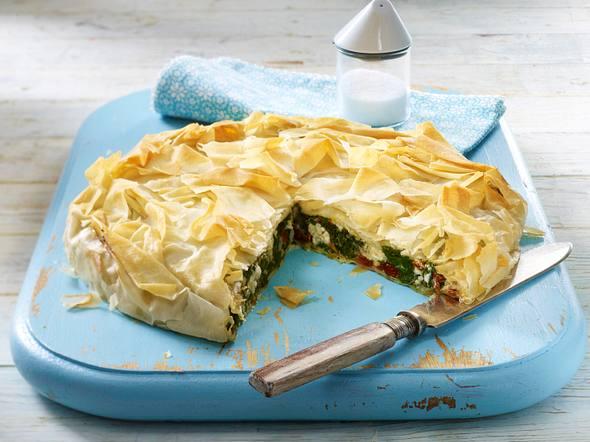 Spinat-Schafskäse-Pie Rezept