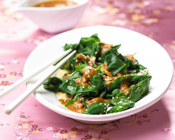 Spinat-Sesam-Salat Rezept
